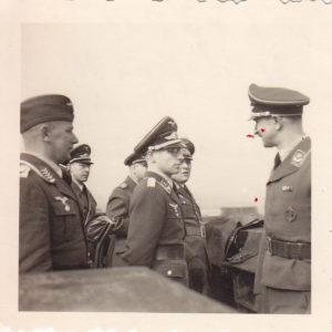 Foto Besichtigung einer Flak Abt.-0