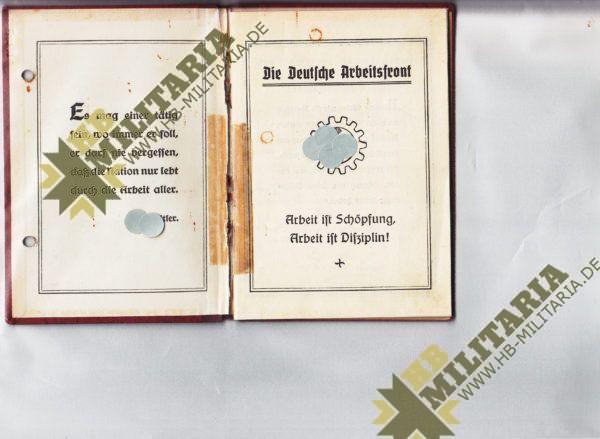 Mitgliedsbuch DAF-1057