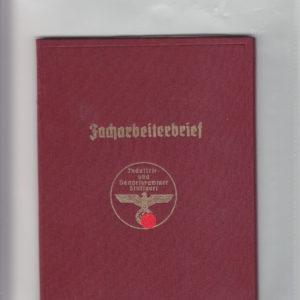 Facharbeiterbrief der Industrie und Handelskammer Stuttgart-0
