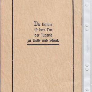 Zeugnisheft aus dem 3. Reich-1758