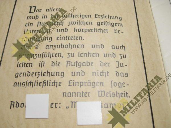 Zeugnisheft aus dem 3. Reich-1763