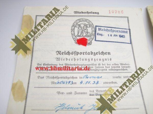 Urkundengruppe für das Reichssportabzeichen-2263