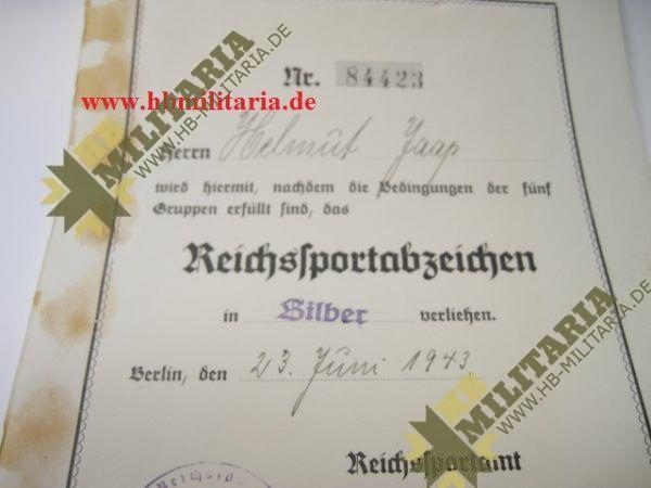 Urkundengruppe für das Reichssportabzeichen-2269