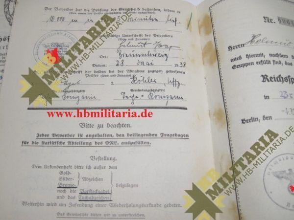 Urkundengruppe für das Reichssportabzeichen-2266