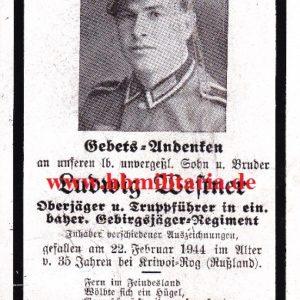 Sterbebild Oberjäger und Truppführer in einem Gebirgsjäger Regiment.-0