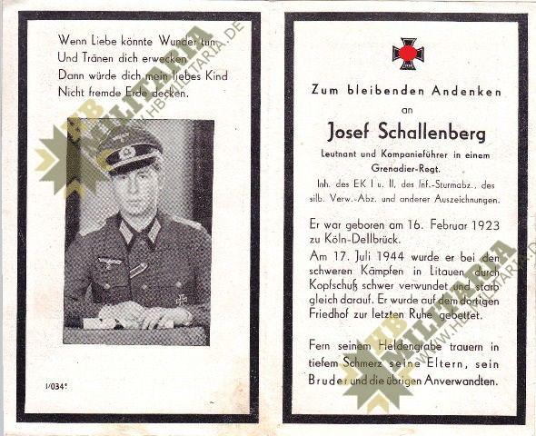 Sterbebild Leutnant und Kompanieführer mit Auszeichnungen.-0