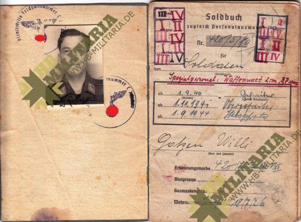 Nachlass eines Obergfefreiten der LW Flak-3298