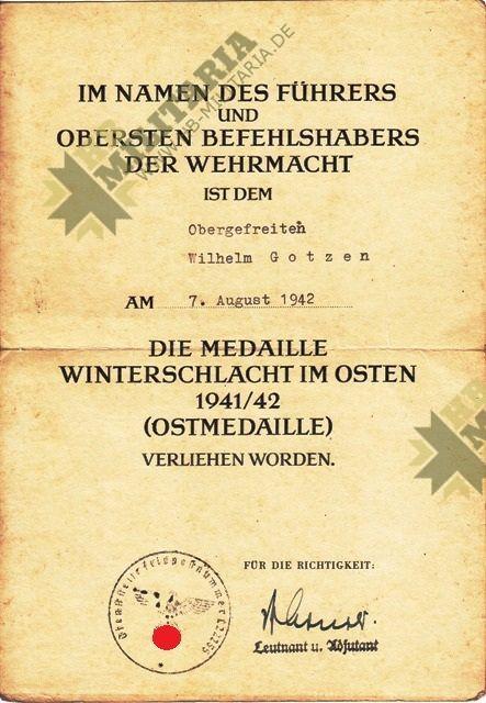 Nachlass eines Obergfefreiten der LW Flak-3312