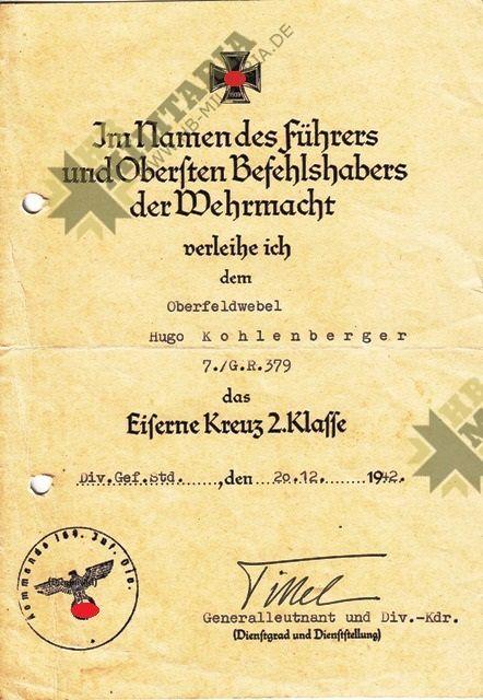 Urkundengruppe eines Oberbefeldwebel-3578