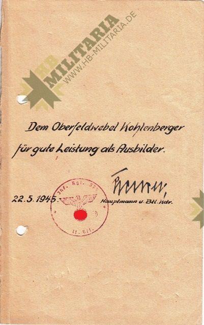 Urkundengruppe eines Oberbefeldwebel-3579