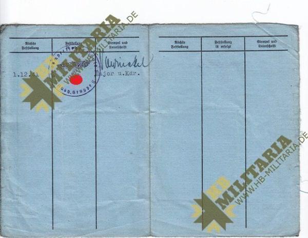 Nachtjagdraumführer 2: Luftwaffenbeobachterschein mit Dokumente und Fotos.-3595
