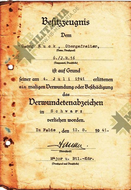 Grosser Nachlass eines Obergefreiten im Infanterie Regiment 16.-3856