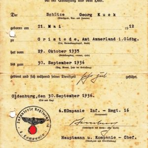 Grosser Nachlass eines Obergefreiten im Infanterie Regiment 16.-3857