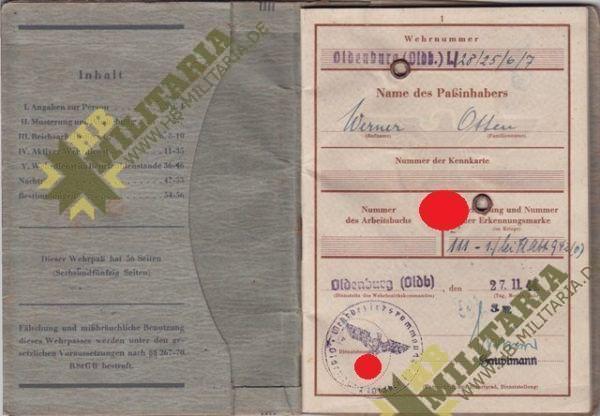 Dokumentennachlaß eines Luftwaffenhelfers in einer Flakbatterie aus dem Raum Oldenburg-4649