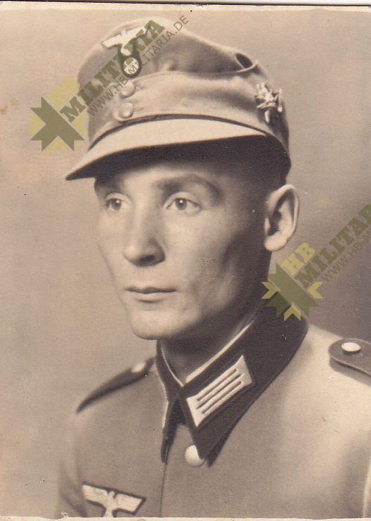 Portraitfoto für Wehrpass Gebirgsjäger Edelweiss-0