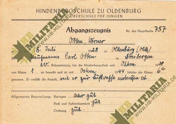 Dokumentennachlaß eines Luftwaffenhelfers in einer Flakbatterie aus dem Raum Oldenburg-4659
