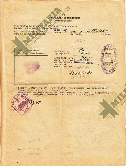 Dokumentennachlaß eines Luftwaffenhelfers in einer Flakbatterie aus dem Raum Oldenburg-4663