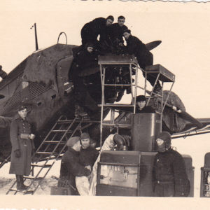 Foto JU52 Wartung im Winter-0