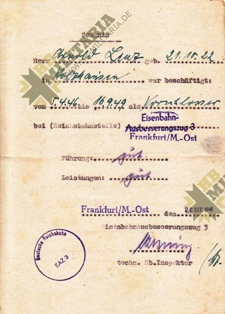 Arbeitsbuch Kriegsmarinewerft Wilhelmshaven + Urkunde + Zeugnis-4645