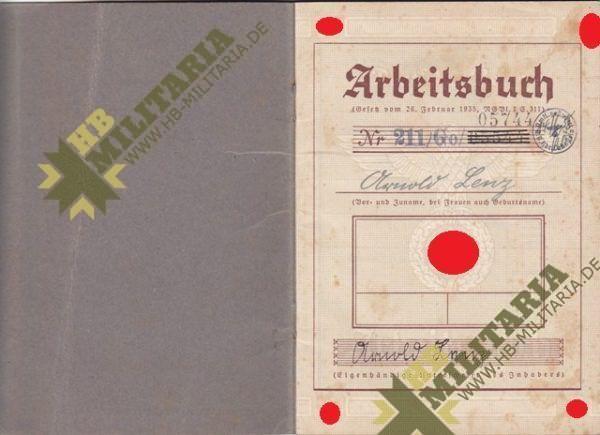 Arbeitsbuch Kriegsmarinewerft Wilhelmshaven + Urkunde + Zeugnis-4640