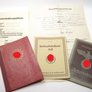 Dokumente Nachlass einer Angehörigen vom Reichsarbeitsdienst ( RAD, weibliche Jugend )-0