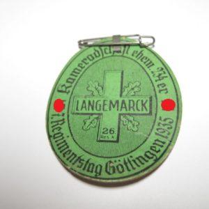 Langemarck 26. Res. Kameradschaft ehem. 134er. 7. Regimentstag Göttingen 1935-0