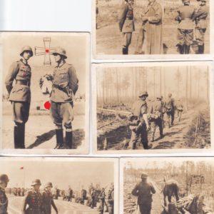 5x Fotos eines DK Träger an der Wolchow Front bei Leningrad-0