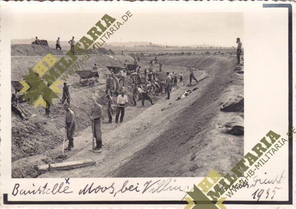 Foto Reichsarbeitsdienst 1935 Moos bei Villingen-0