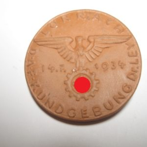 Lörrach Ton Abzeichen D.A.F. Kundgebung Dr. Ley-0