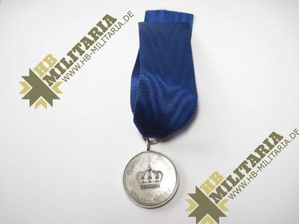 Preußen Dienstauszeichnung für Unteroffiziere und Mannschaften Medaille für IX Jahre-0