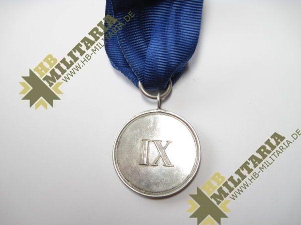 Preußen Dienstauszeichnung für Unteroffiziere und Mannschaften Medaille für IX Jahre-6410