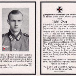 Sterbebild eines Obergefreiten aus Hockenheim-0