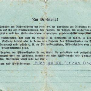 Jahresfischereischein Kolberg 1942-7181