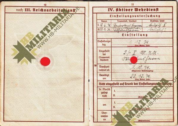 Wehrpass Luftwaffe. ZG 76, JG 76, JG 300 ( Wilde Sau )- VERKAUFT-7682