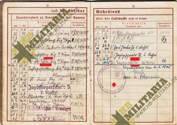 Wehrpass Luftwaffe. ZG 76, JG 76, JG 300 ( Wilde Sau )- VERKAUFT-7683