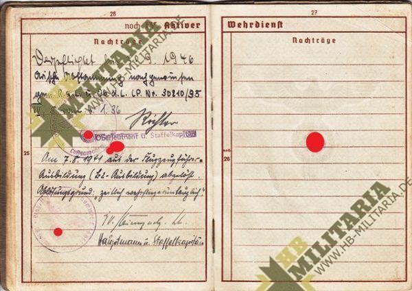 Wehrpass Luftwaffe. ZG 76, JG 76, JG 300 ( Wilde Sau )- VERKAUFT-7688