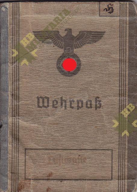 Wehrpass Luftwaffe. ZG 76, JG 76, JG 300 ( Wilde Sau )- VERKAUFT-0