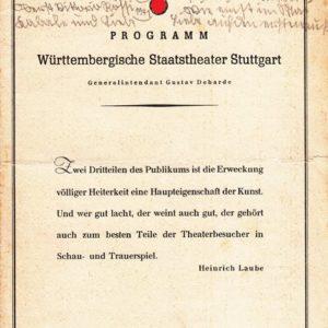 Programm des württembergischen Staatstheater Stuttgart-7717