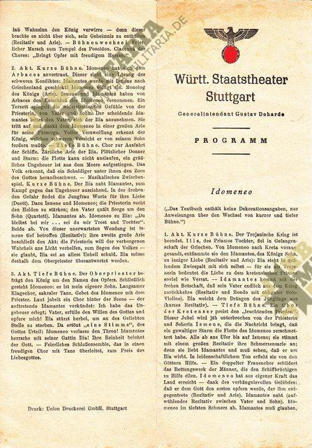Programm des württembergischen Staatstheater Stuttgart-7720