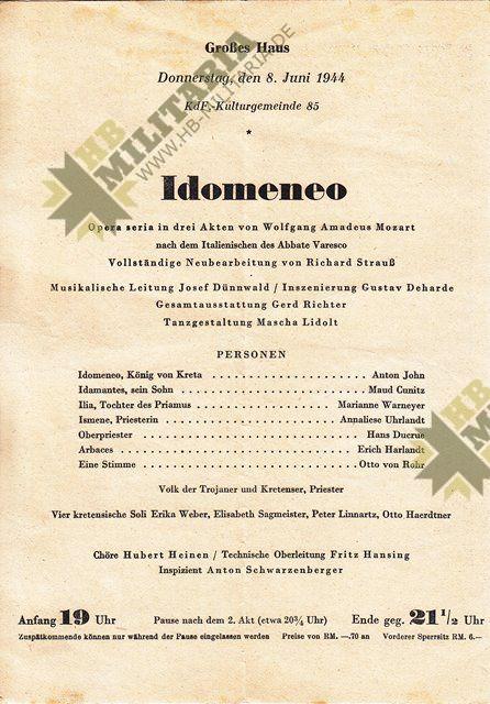 Programm des württembergischen Staatstheater Stuttgart-7721