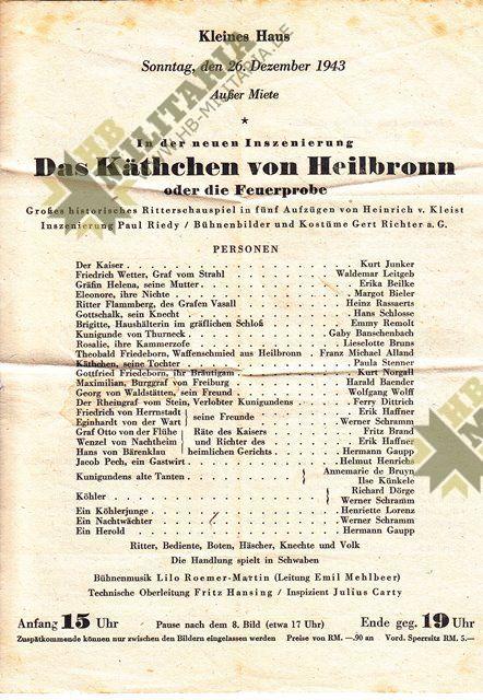Programm des württembergischen Staatstheater Stuttgart-7723