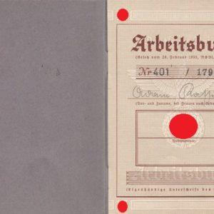 Arbeitsbuch aus dem Raum Eger/ Tirschnitz. Sudetengau. Pracovní sešit z místnosti Eger / Tirschnitz. Sudetengau.-7725