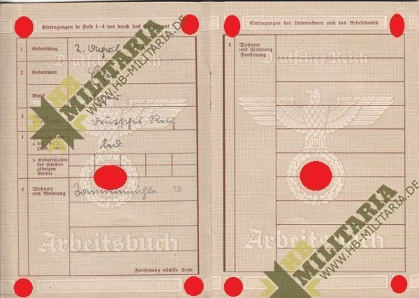 Arbeitsbuch aus dem Raum Eger/ Tirschnitz. Sudetengau. Pracovní sešit z místnosti Eger / Tirschnitz. Sudetengau.-7726
