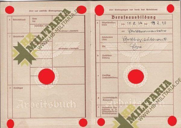 Arbeitsbuch aus dem Raum Eger/ Tirschnitz. Sudetengau. Pracovní sešit z místnosti Eger / Tirschnitz. Sudetengau.-7727