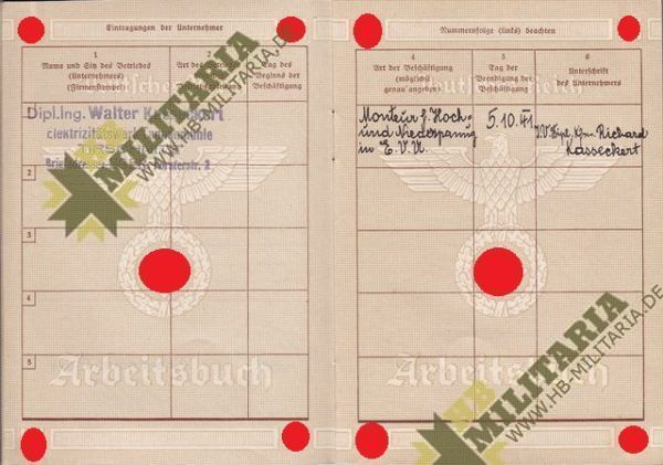 Arbeitsbuch aus dem Raum Eger/ Tirschnitz. Sudetengau. Pracovní sešit z místnosti Eger / Tirschnitz. Sudetengau.-7729