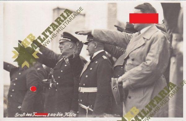 Foto Gruß des Führers an die Köln. Wilhelmshaven.-0