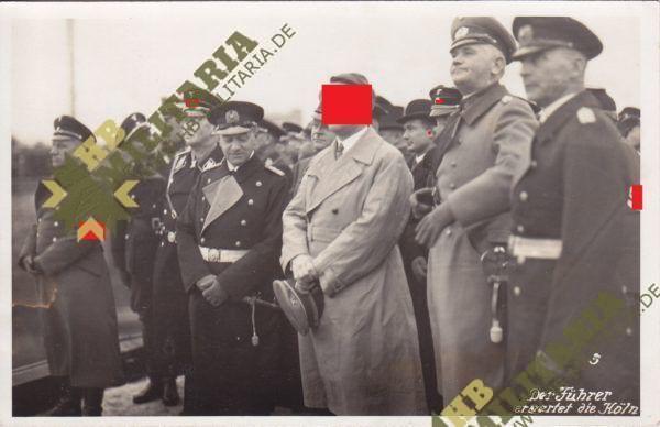 4x Fotos vom 12.12.1933 Empfang des leichten Kreuzers Köln in Wilhelmshaven durch den Führer.-8285