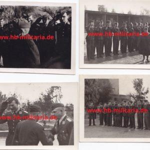 4x Fotos Italien`s König Viktor Emanuel in Comiso beim Truppenbesuch des KG30- Werner Baumbach-0