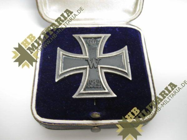 Eisernes Kreuz 1. Klasse. EK1 1914 Hersteller SW im Etui-8557