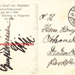 Gottlieb Graf von Haeseler- Originalunterschrift-8717